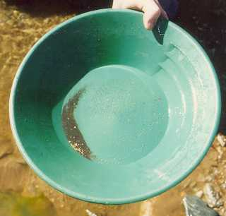 gold panning for the first time